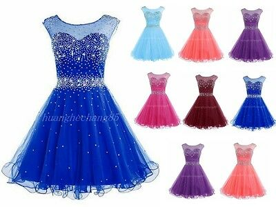 Short Beaded Homecoming Dress Prom Dress Bridesmaid Formal Party Evening Gown