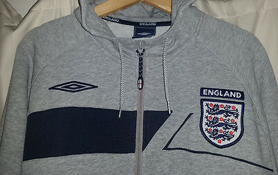"""Size Large - England Official Umbro Soccer Hoddie """"Very Nice Zip Up Jacket"""""""