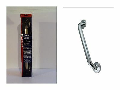 Safety First 18-Inch by 1-1/2-Inch Concealed Mounting Grab Bar Stainless steel
