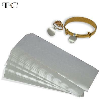 1000pcs Adhesive Ring Jewellery Sticky Retail Price Tags Silver Label Stickers