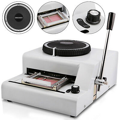 72-Character PVC Card Embosser Embossing Machine Credit ID VIP Magnetic Stamping