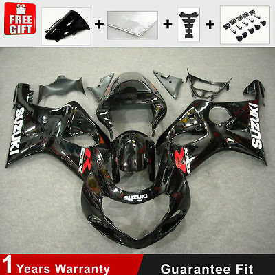 ABS Plastic Injection Mold Fairing for 01 02 suzuki GSXR 1000 K1 K2 Black Paint