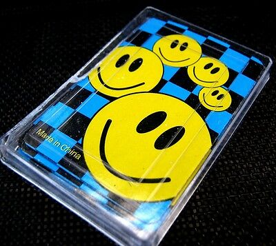 Bulk Lot 10 Mini Smiley Face Kids Playing Cards New Party Favor Novelty Toy New