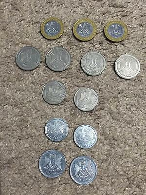 Syria set of 13 coins 1991-1996 (1+2+5+10+25 pounds)