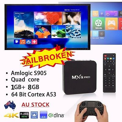 Smart TV BOX Fully Loaded S905X MXQ Pro Quad Core 4K Android 5.1 Media Player