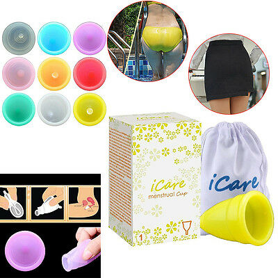 Lady Menstruation Reusable Medical Silicone Menstrual Cup Feminine Hygiene