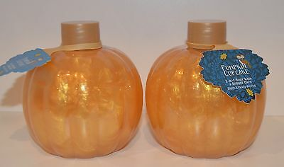 Lot Of 2 Bath & Body Works Pumpkin Cupcake 2 In 1 Bubble Bath Foam Wash 14.5Oz