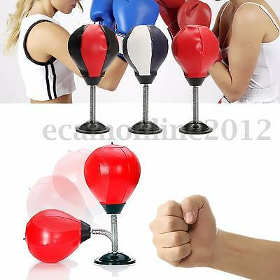 MMA Boxing Pear Shape Speedball Speed Ball Platform Stand Punch Bag Fitness