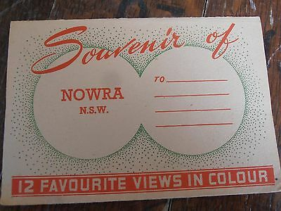 Foldout Souvenir Booklet Of Nowra New South Wales