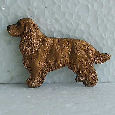 English Cocker Spaniel Red Brooch Dog Breed Jewellery Handpainted