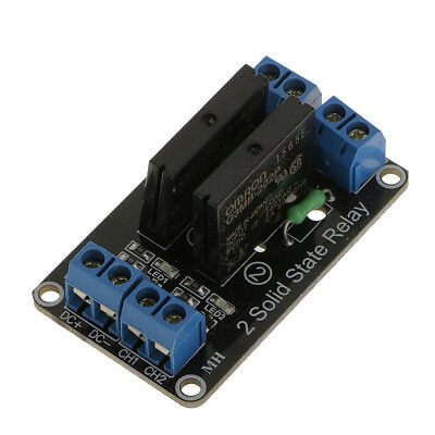 5V 2CH Solid State Relay Module 240V AC 2A Low Level Trigger