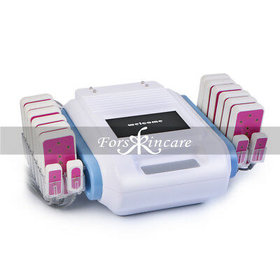 16 Pads Diode LLLT Lipo Laser Lipolysis 160mW Body Contour Slimming Fat Machine