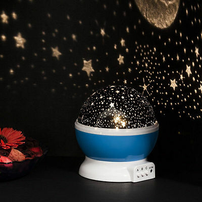 Star Moon Sky Starry Night Projector LED Light Lamp Kids Baby Christmas Gift
