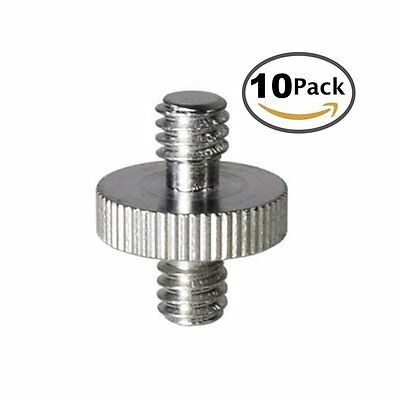 "Screw Adapter Converter with Standard 1/4"" Male to 1/4"" Male Threaded fr Camera"