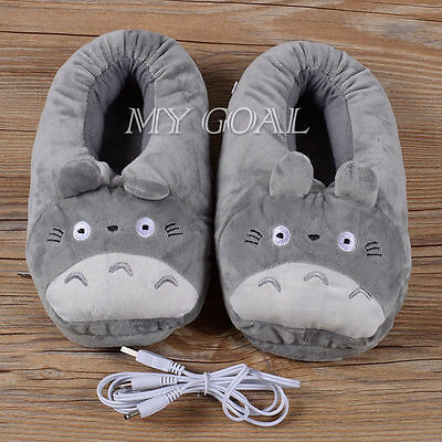 Cute Warmer Plush Shoes Heat Foot Computer PC Electric USB Unsex Slipper