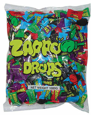 240  ZAPPO DROPS  Individually Wrapped Bulk Sweets Party Favors Candy Lollies