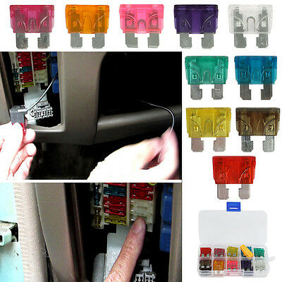 5/10/20/50pcs Car Assorted Standard Blade Fuse Assortment Kit 3-40A Auto Truck