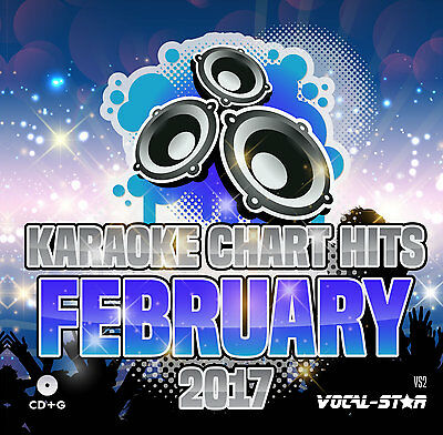 Vocal-Star Karaoke Cdg Disc - Feb 2017 Chart Hits Vs2 - 18 Cd+G Songs