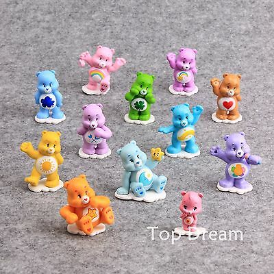 12pcs Care Bear PVC Action Figure Playset Toy Doll Cake Topper Kids Xmas Gift