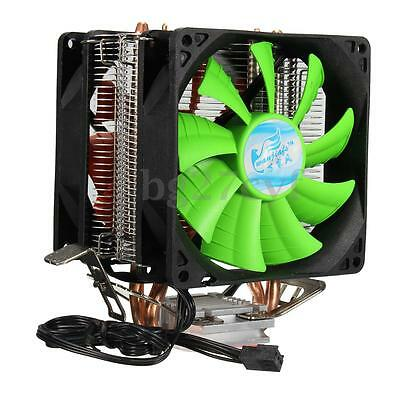 3 Pin Dual Fan CPU Cooler Heatsink For Intel LGA775/1150/1155 AMD AM2/AM2+/AM3
