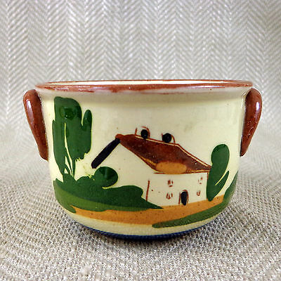 Vintage  Salt Bowl Bucket Pot Watcombe Devon Torquay Pottery Motto Ware Vtg