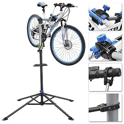 Portable Pro Folding Mechanic Bike Repair Stand Foldable Bicycle Workstand Tool