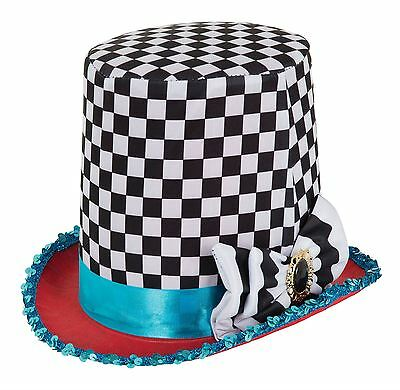 Stovepipe Mad Hatter Chequered Hat, Fancy Dress Party Costume Hat #AU