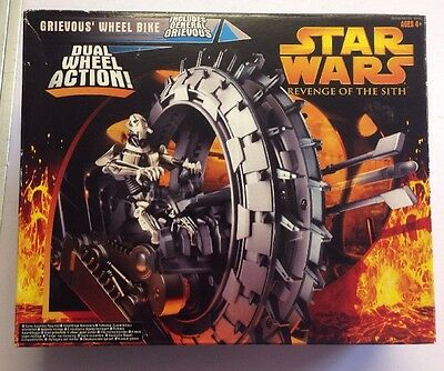 Star Wars Revenge Of The Sith - Grievous Wheel Bike And Figure Boxed