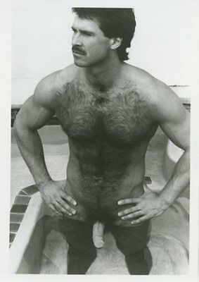 MARK CHRISTIAN vintage gay COLT JIM FRENCH b&w 5x7 photograph-HOT HAIRY MAN