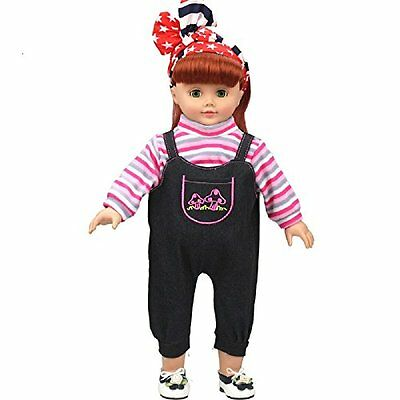 Shero 14 - 16 Inches Baby Doll''s Clothes Denim Suit Pink