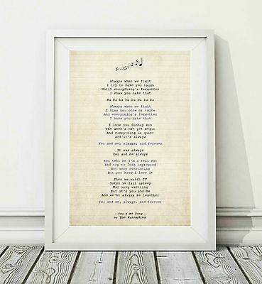 254 The Wannadies - You And Me Song - Song Lyric Art Poster Print - Sizes A4 A3