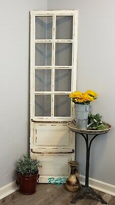 Decorative Antique Distressed Wood Metal Vintage Shabby Door Wall Panel Art NEW