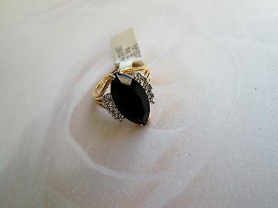 70er Vintage Designer Sarah Coventry sign. Ring Gr 7 17 mm  faux Onyx !
