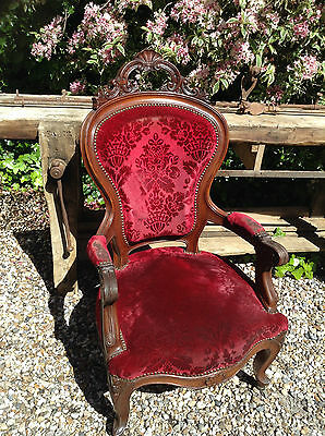French Vintage Louis Style Carved Chair