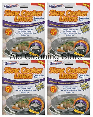 4 X Sealapack Slow Cooker Liners Pk of 5 For Round & Oval Slow Cookers
