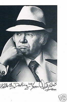 Charlie Drake  Film & TV Actor  Hand signed Photo 6 x 4 and Letter