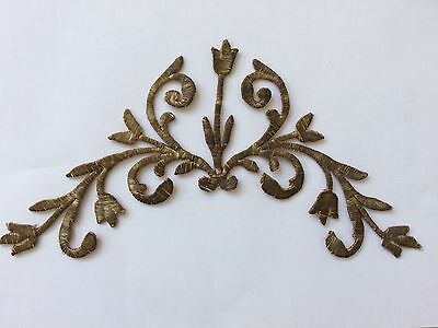 Antique Ottoman Turkish Silver Metallic Hand Embroidery For Applique-2