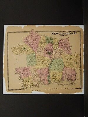 Connecticut, New London County Map, 1868 #04