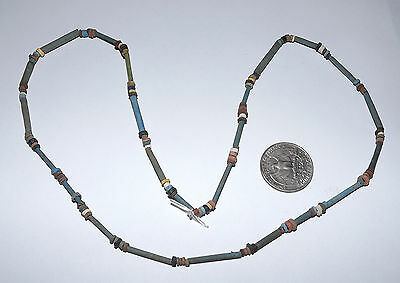 2500 Year old Ancient Egyptian Faience Mummy Bead NECKLACE (#D9524)