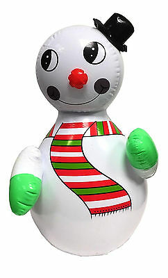 Kids Children Christmas Xmas Inflatable Snowman Roly Poly Blow Up Party Toy