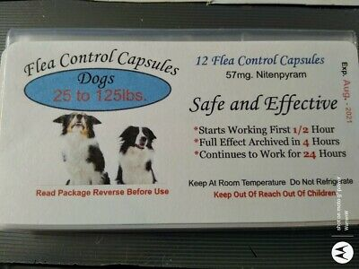 Flea Control Capsules Dogs 25-125lbs. NOW $10.99 (6 pack) +6 FREE CAPS BEST DEAL