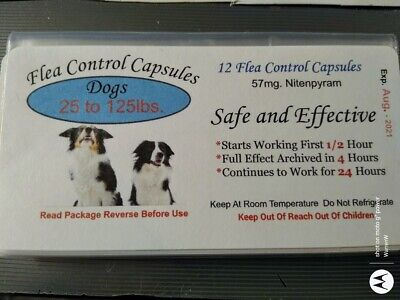 Flea Control Capsules Dogs 25-125lbs. SALE $9.99 (6 pack) +6 FREE CAPS BEST DEAL