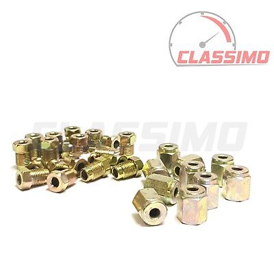 Brake Pipe End Union Nuts - 20 x MALE METRIC M10 x 1mm and 10 x METRIC FEMALE
