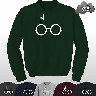 Lightning Glasses Sweatshirt Scar Magic Not Leviosa Potter Deathly Hallows Harry