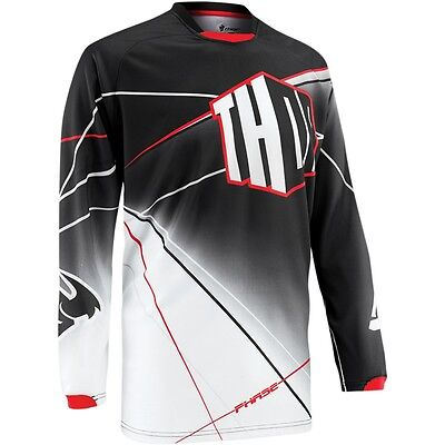 Thor Phase S5 Prism Motocross Offroad Mx Jersey Black Size Small