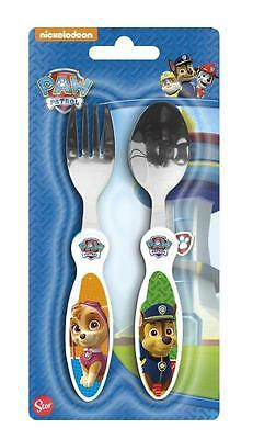 Paw Patrol Stainless Steel Cutlery Set Spoon and Fork
