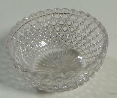 Antique American Brilliant Cut Glass Berry Bowl / Nut Dish