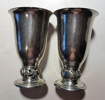 Shirley Williamsburg Virginia Pewter Flower Vase Lot of 2 No Mono NO RESERVE