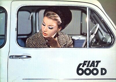 Fiat 600D & Multipla with front hinged doors Portuguese text sales brochure