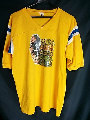 ABBA Yellow T-shirt Official Polar International LTD 1979 VG L 42/44 VINTAGE